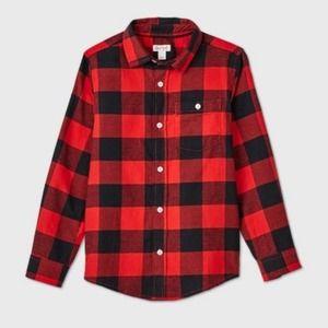 Cat Jack Red Buffalo Check Flannel Shirt L XXL 18